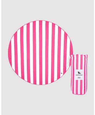 Dock & Bay - Round Beach Towel 100% Recycled - Home (Pink) Round Beach Towel 100% Recycled