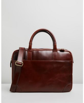 Double Oak Mills - Harry Leather Briefcase - Bags (Brown) Harry Leather Briefcase