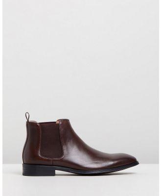 Double Oak Mills - Klim Leather Gusset Boots - Boots (Brown) Klim Leather Gusset Boots