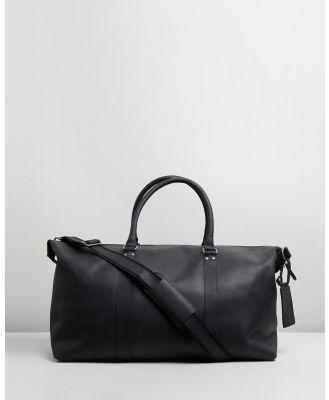 Double Oak Mills - Lyle Leather Weekender - Duffle Bags (Black) Lyle Leather Weekender