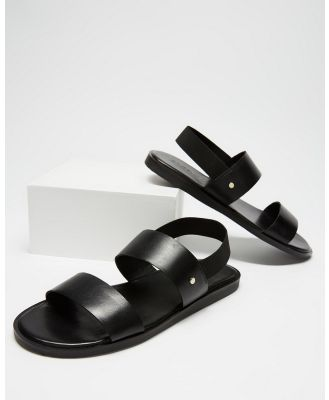 Double Oak Mills - Mathers Leather Sandals - Casual Shoes (Black) Mathers Leather Sandals