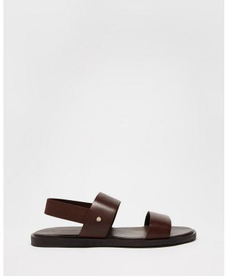 Double Oak Mills - Mathers Leather Sandals - Casual Shoes (Brown) Mathers Leather Sandals