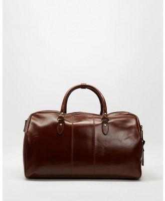 Double Oak Mills - Wilbur Leather Weekender - Bags (Brown) Wilbur Leather Weekender