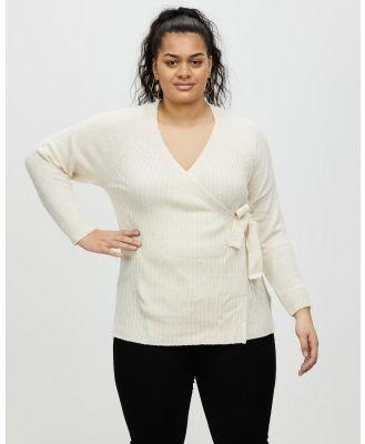 DP Curve - Loungewear Wrap Top - Tops (Beige) Loungewear Wrap Top