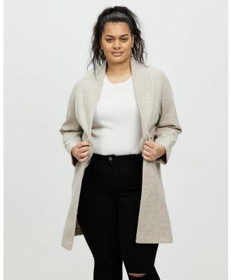 DP Curve - Oatmeal Unlined Coat - Coats & Jackets (Taupe & Beige) Oatmeal Unlined Coat