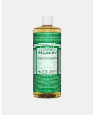 Dr Bronner's - Pure Liquid Castile Soap Almond 946ml - Beauty (Dark Green) Pure Liquid Castile Soap Almond 946ml