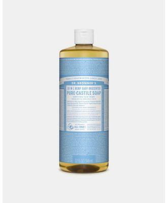 Dr Bronner's - Pure Liquid Castile Soap Baby Unscented 946ml - Beauty (Light Blue) Pure Liquid Castile Soap Baby Unscented 946ml