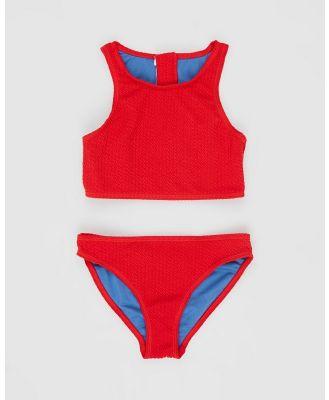 Duskii - Yara Crop Bikini Set   Teens - Bikini Set (Cherry Red) Yara Crop Bikini Set - Teens