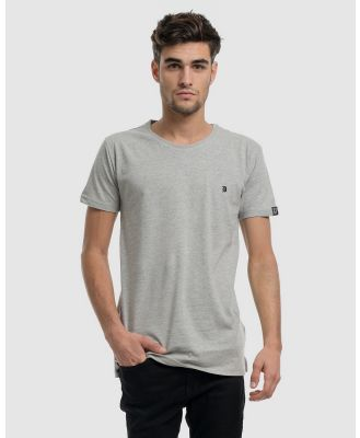DVNT - Classic Embroidery Tee - Short Sleeve T-Shirts (Grey) Classic Embroidery Tee