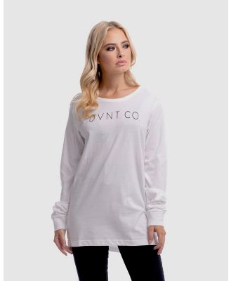DVNT - The Co. Long Sleeve Tee - T-Shirts & Singlets (White) The Co. Long Sleeve Tee