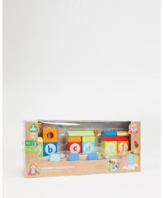 Early Learning Centre - Wooden Stacking Train   Babies - Pre-school & Toddler (N/A) Wooden Stacking Train - Babies