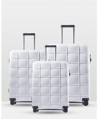 Echolac Japan - Cape Town Echolac 3 Piece Luggage Set - Travel and Luggage (WHITE) Cape Town Echolac 3 Piece Luggage Set