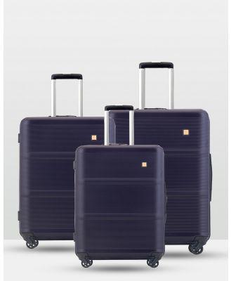 Echolac Japan - Rome Echolac 3 Piece Luggage Set - Travel and Luggage (PURPLE) Rome Echolac 3 Piece Luggage Set