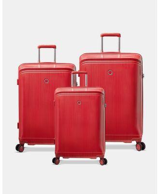 Echolac Japan - Singapore Echolac 3 Piece Set - Travel and Luggage (red) Singapore Echolac 3 Piece Set