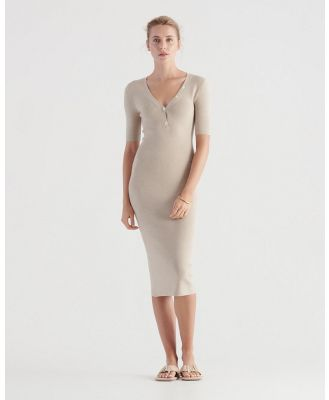 Elka Collective - Amare Knit Dress - Bodycon Dresses (Oat) Amare Knit Dress