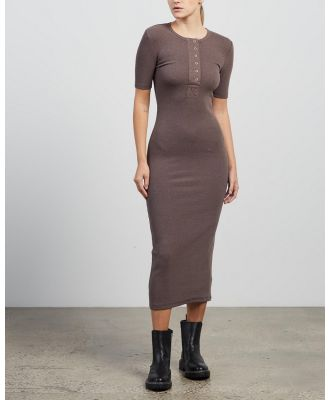 Elka Collective - Gather Dress - Bodycon Dresses (Cocoa Marle) Gather Dress