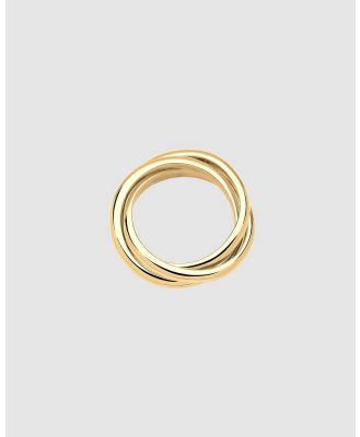 Elli Jewelry - Ring Wrap Trio Basic 925 Silver Gold Plated - Jewellery (Gold) Ring Wrap Trio Basic 925 Silver Gold Plated
