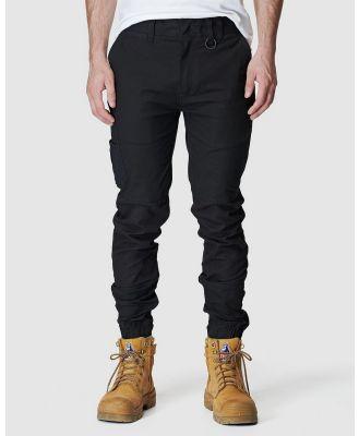 Elwood Workwear - Mens Cuffed Pant - Pants (Black) Mens Cuffed Pant