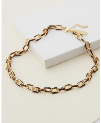 Emma Pills - Chain Link Necklace - Jewellery (Chocolate) Chain Link Necklace