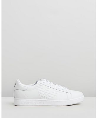 Emporio Armani EA7 - Lace Up Sneakers - Sneakers (White) Lace-Up Sneakers