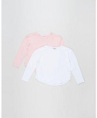 Eve Girl - Mackenzie Long Sleeve Tee   2 Pack   Teens - Clothing (Pink and White) Mackenzie Long Sleeve Tee - 2-Pack - Teens