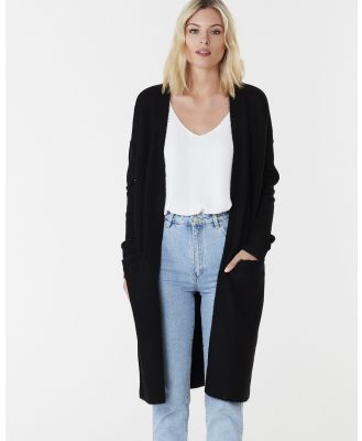 Everly Collective - Toronto Long Cardigan - Jumpers & Cardigans (Black) Toronto Long Cardigan