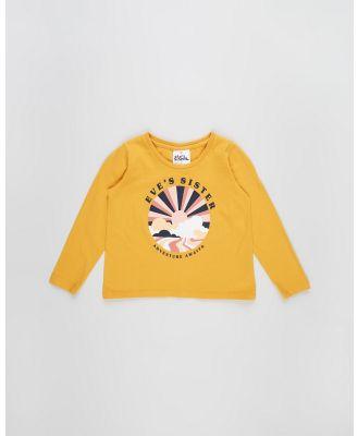 Eve's Sister - Adventure Long Sleeve Tee   Kids - T-Shirts & Singlets (Mustard) Adventure Long Sleeve Tee - Kids