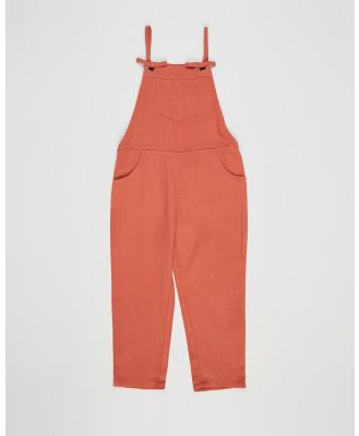 Eve's Sister - Ally Overalls   Kids - Sleeveless (Brown) Ally Overalls - Kids