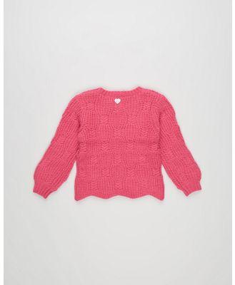 Eve's Sister - George Knit   Kids - Jumpers & Cardigans (Hot Pink) George Knit - Kids