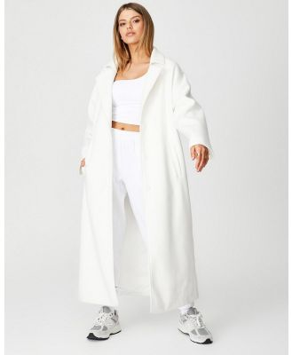 Factorie - Maxi Coat - Coats & Jackets (Ivory) Maxi Coat
