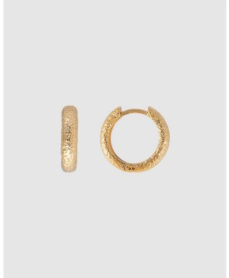 FAIRLEY - Antique Gold Midi Hoops - Jewellery (Gold) Antique Gold Midi Hoops