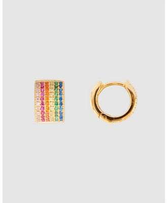 FAIRLEY - Over The Rainbow Huggies - Jewellery (Gold) Over The Rainbow Huggies