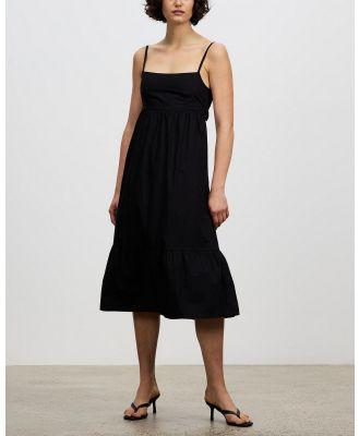 Faithfull The Brand - Candace Midi Dress - Dresses (Plain Black) Candace Midi Dress
