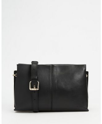 Fall The Label - Magnetic Close Cross Body Clutch - Clutches (Black) Magnetic Close Cross-Body Clutch
