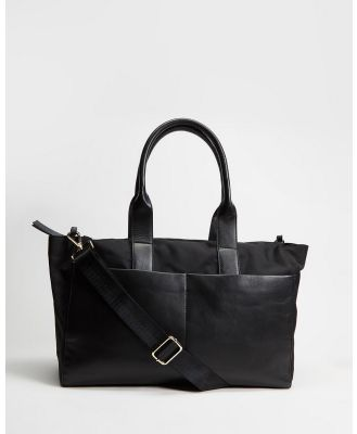 Fall The Label - Nylon & Leather Baby Bag - Bags (Black) Nylon & Leather Baby Bag