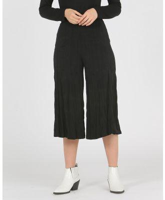Faye Black Label - Wide Leg Crinkle Pants - Pants (Black) Wide Leg Crinkle Pants