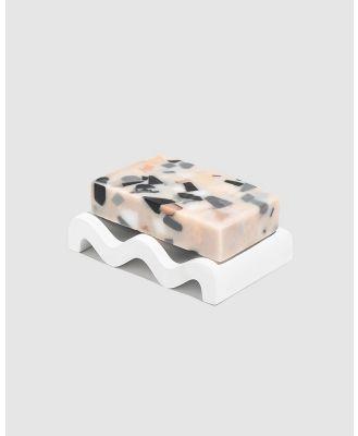 Fazeek - White Soap DIsh and Absolute Terrazzo Soap Pack - Beauty (Multi) White Soap DIsh and Absolute Terrazzo Soap Pack