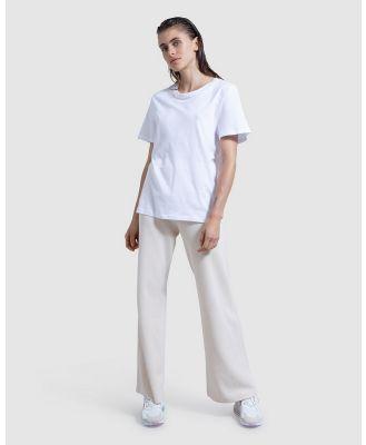 First Base - Boyfriend Tee - Short Sleeve T-Shirts (White) Boyfriend Tee