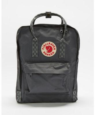 Fjallraven - Kanken - Backpacks (Super Grey & Hess Pattern) Kanken