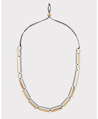 Florence Broadhurst - Turnabouts Spliced Adjustable Necklace - Jewellery (Black/White) Turnabouts Spliced Adjustable Necklace