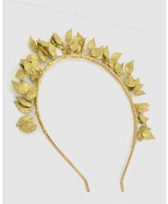 Ford Millinery - Tinker Gold - Fascinators (Gold) Tinker Gold