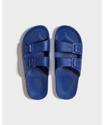 Freedom Moses - Slides   Unisex - Casual Shoes (Navy) Slides - Unisex