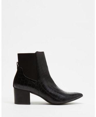 Freelance Shoes - Rome - Boots (Black Croc) Rome