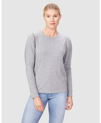 French Connection - Puff Sleeve Top - T-Shirts & Singlets (CHARCOAL) Puff Sleeve Top