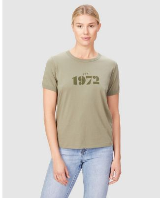 French Connection - Vintage 1972 T Shirt - T-Shirts & Singlets (WASHED OLIVE) Vintage 1972 T Shirt