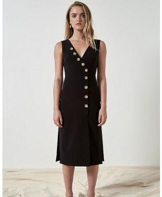 FRIEND of AUDREY - Dylan Buttoned Dress - Dresses (Black) Dylan Buttoned Dress