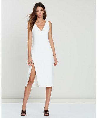 FRIEND of AUDREY - Maja Midi Split Dress - Dresses (White) Maja Midi Split Dress