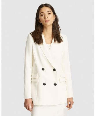 FRIEND of AUDREY - Marc Double Breasted Blazer - Blazers (White) Marc Double Breasted Blazer
