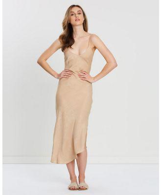 FRIEND of AUDREY - Paige Bias Cut Slip Dress - Dresses (Champagne) Paige Bias Cut Slip Dress