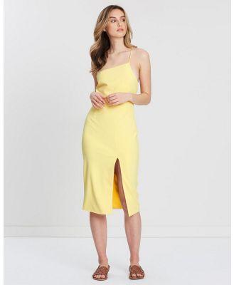 FRIEND of AUDREY - Rhodes Cross Back Dress - Bodycon Dresses (Lemon) Rhodes Cross Back Dress